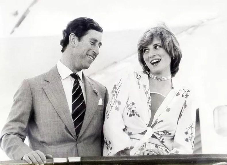 Prince Charles and Princess Diana on board the Royal Yacht Britannia