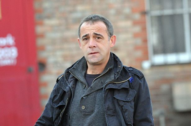 Isolated: Michael Le Vell showing the strain in recent photo