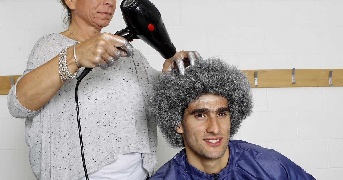 Marouane Fellaini Dyes Hair Silver Everton Star Thank You