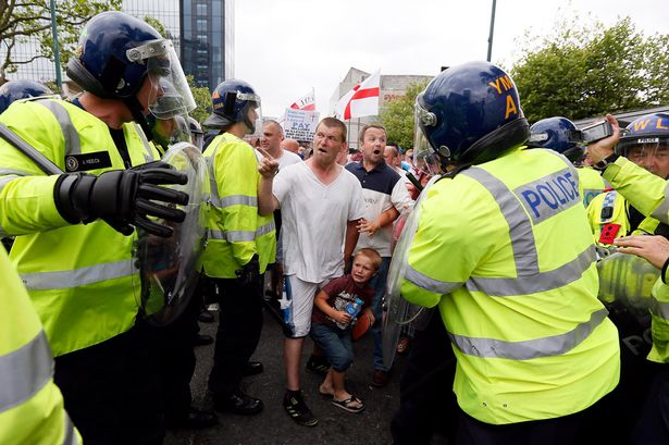 EDL march in Birmingham