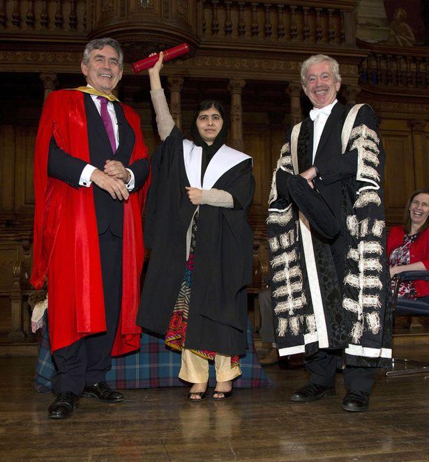 Malala Yousafzai receives an Honorary degree from Edinburgh University