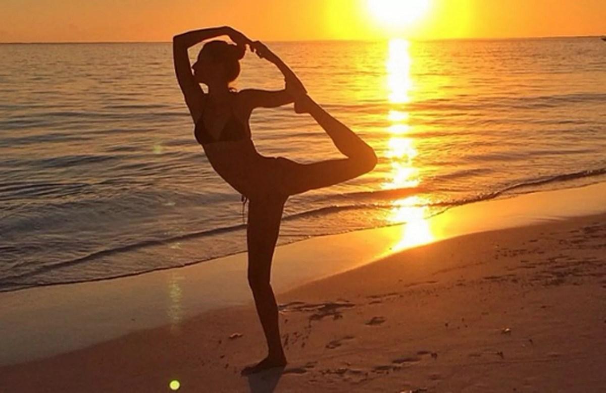 Gisele Bundchen's yoga selfie