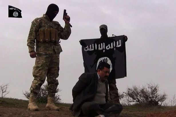 A man is allegedly executed by ISIS fighters