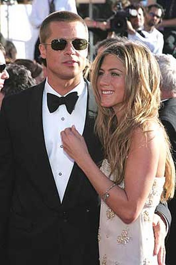 Jennifer Aniston with Brad Pitt