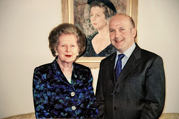 Anthony Gilberthorpe and Mrs Thatcher in 2003