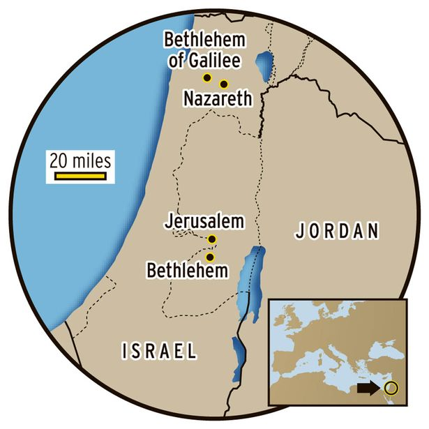 Bethlehem map