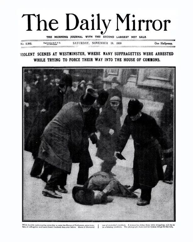 Image result for suffragette arrests newspaper