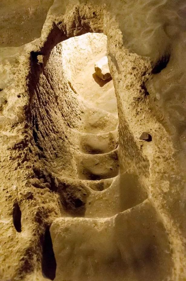 The Derinkuyu underground city is an ancient multi-level underground city in the Derinkuyu district in Nev?ehir Province, Turkey