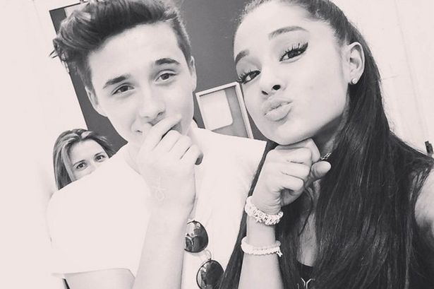 Brooklyn Beckham and Ariana Grande