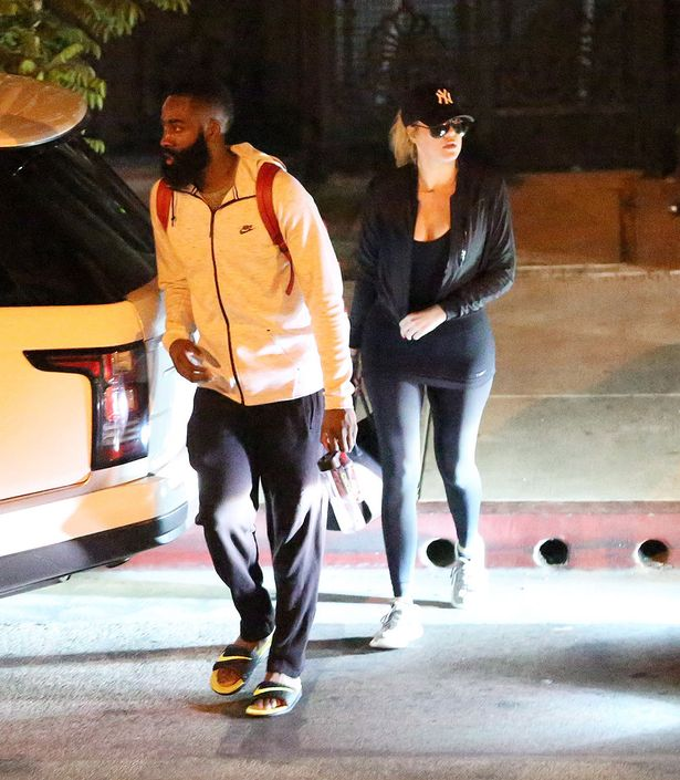 Khloe Kardashian and James Harden seen arriving and leaving E.P & L.P after an intimate dinner together . , E.P & L.P is a hot new restaurant in Beverly Hills where after their low key date he gives her a quick kiss , then he opens the car door for her and then gets in himself