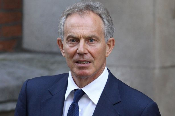 Former British Prime Minister Tony Blair leaves the Royal Courts of Justice