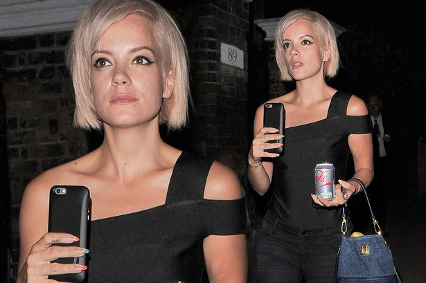 Lily Allen out and about following rumours of marriage trouble