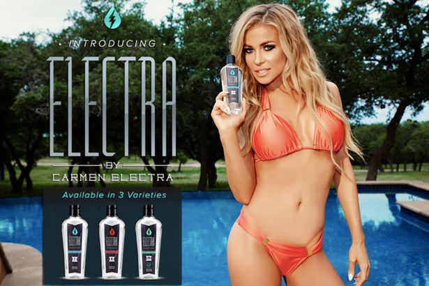 Ex-Baywatch babe Carmen Electra is launching her own lube line to help fans spice up their sex lives