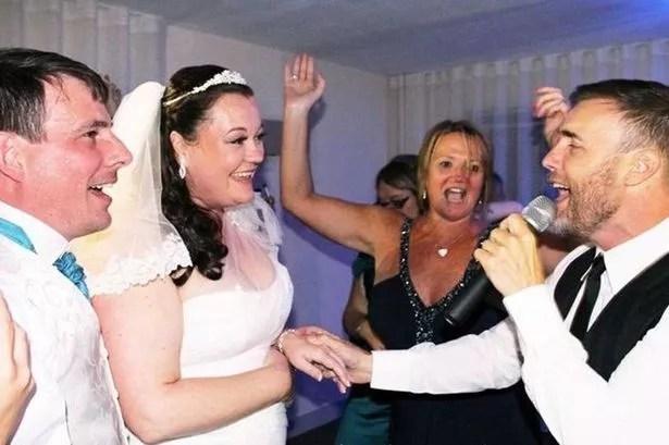 Gary Barlow at Martin and Natalie Purkis wedding