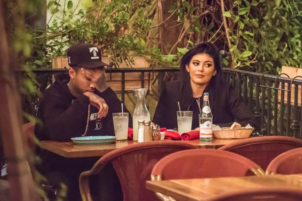 Kylie Jenner and her boyfriend Tyga having a great time together as they dined together at Rosti Cafe