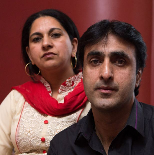 Nissar Hussain, 49, with his wife Kubra, 45, pictured at their home in Bradford, West Yorkshire