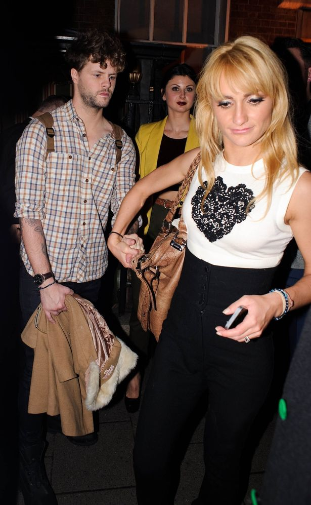 Jay McGuiness from the band The Wanted is seen leaving 'Strictly Come Dancing' dancer Janette Manrara's birthday celebrations at Annabel's private club in Mayfair, London.