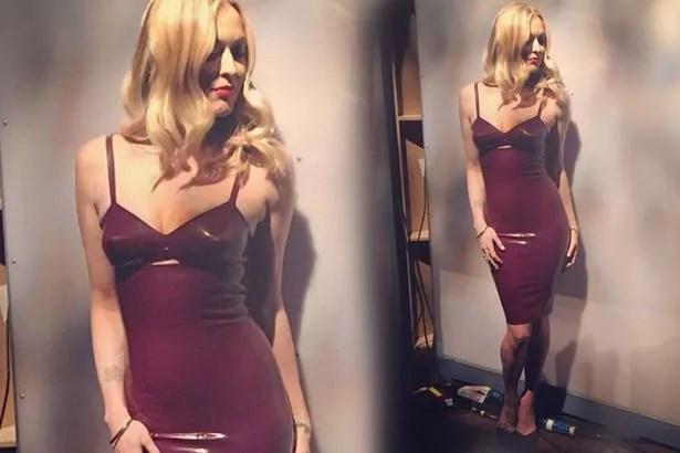 Fearne Cotton looks amazing in PVC dress