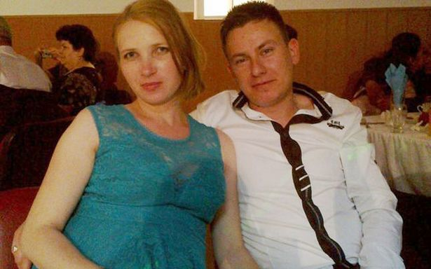 Elena Roxana Smocot with her husband