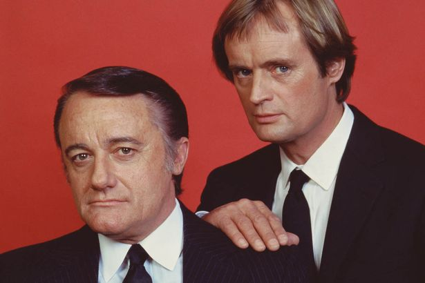 Robert Vaughn as Napolean Solo, left, and David McCallum as Ilya Kuryakin