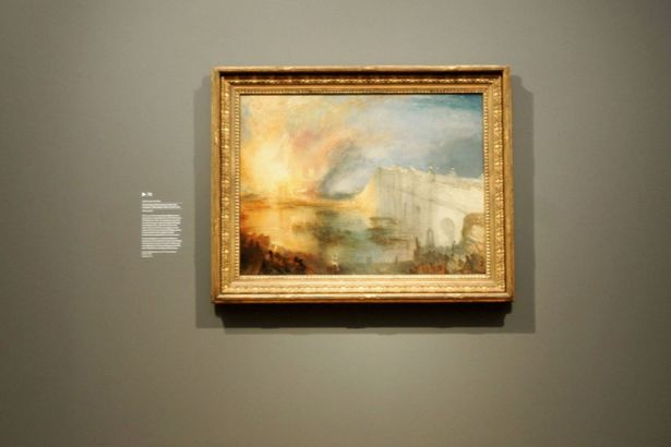 'The Burning Of the House Of Lords' by Turner