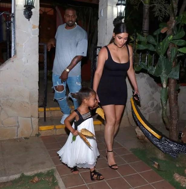 Kim-Kardashian-and-Kourtey Photos: Kanye West surprise Kim Kardashian with an orchestra to celebrate Mother's Day