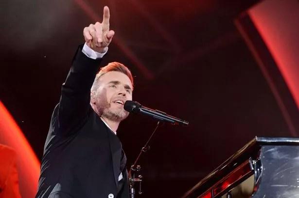 Gary Barlow performing
