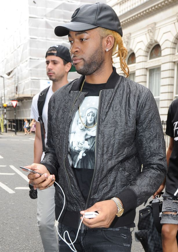Jahron Anthony Brathwaite, better known by his stage name PartyNextDoor, leaving his hotel on his way to New Look Wireless Festival 2015