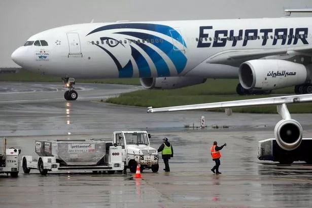 The EgyptAir plane
