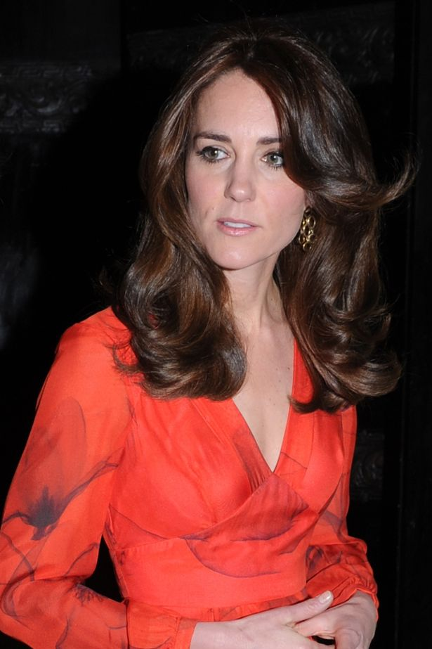 Kate wore her long hair loose for the reception in Bhutan