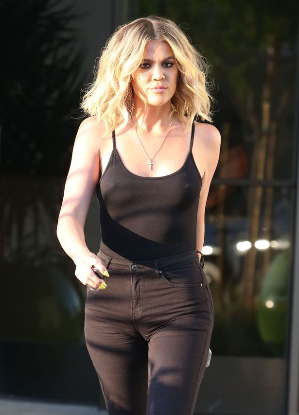 Khloe Kardashian is seen at a studio in Van Nuys