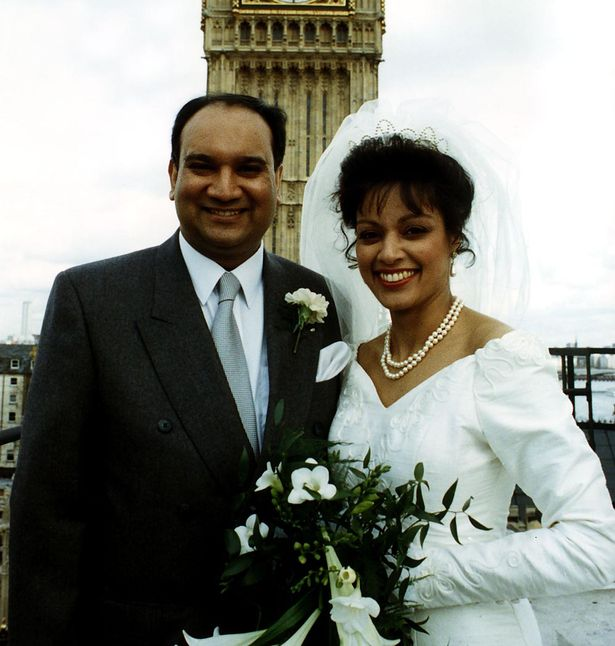 Keith Vaz Labour politician with new bride Maria Fernandez