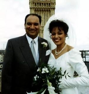 Keith Vaz Labour politician with new bride Maria Fernandez