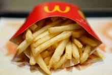 A portion of fries from McDonald's