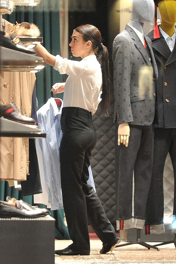Georgina Rodriguez on duty at Gucci store