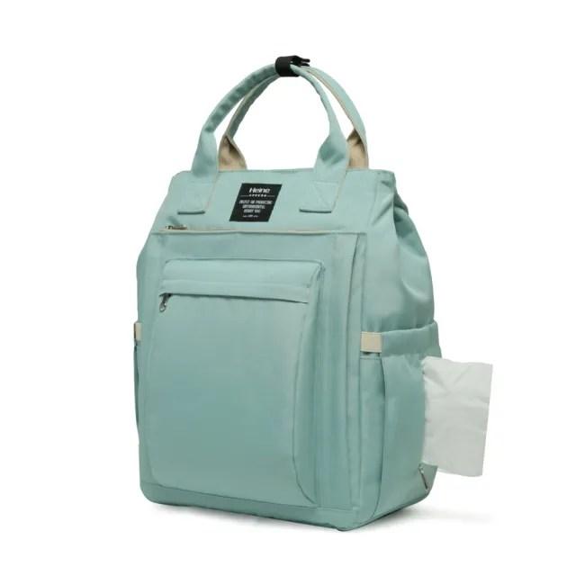 【Heine 海恩】WIN-0209 後背包 筆電包 電腦包 媽媽包 尼龍包 防盜防潑水背包 女包 包包(旅遊背包 摩洛青)
