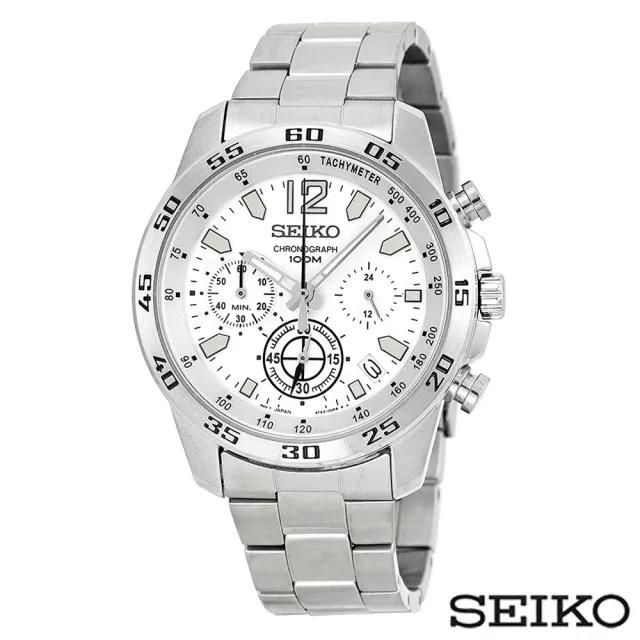 【SEIKO 精工】非凡風格視距儀三眼計時石英男錶(SSB123P1)