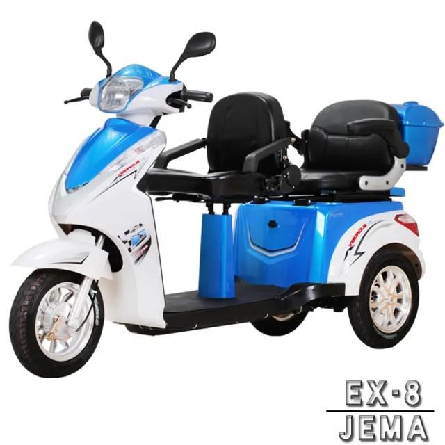 【JEMA 捷馬科技】EX-8 48V鉛酸 LED超量大燈 爬坡力強 液壓減震(三輪車 單座 電動車 - 藍)