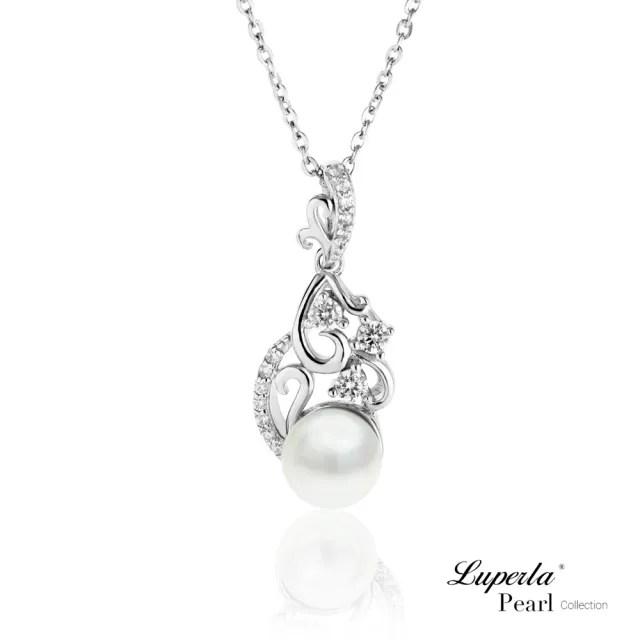 【大東山珠寶】璀璨情歌 純銀晶鑽珍珠項鍊(天然淡水珍珠)