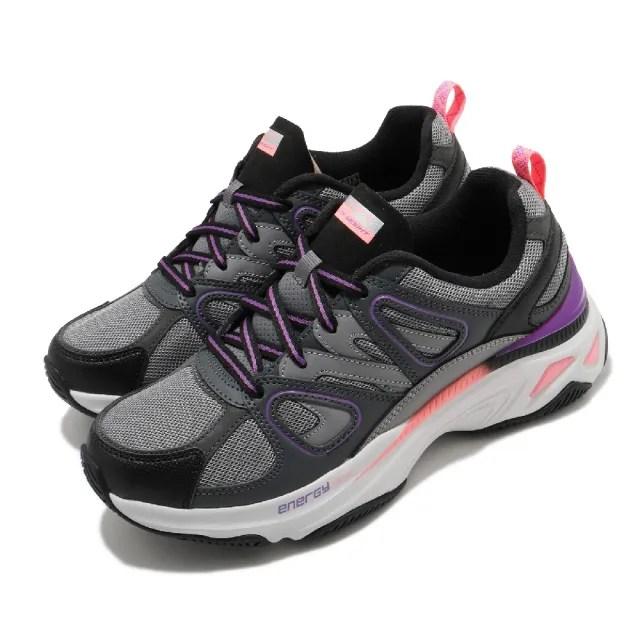 【SKECHERS】休閒鞋 Energy Racer 增高 老爹鞋 女鞋 異材質拼接 止滑 耐用 穿搭 反光 灰 紫(149371CCPK)
