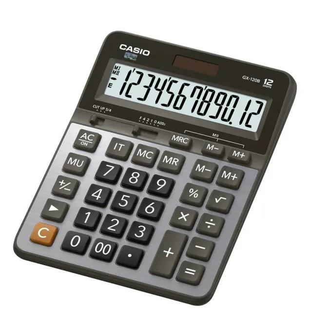 【CASIO卡西歐】12位數雙電源商用計算機(GX-120B)