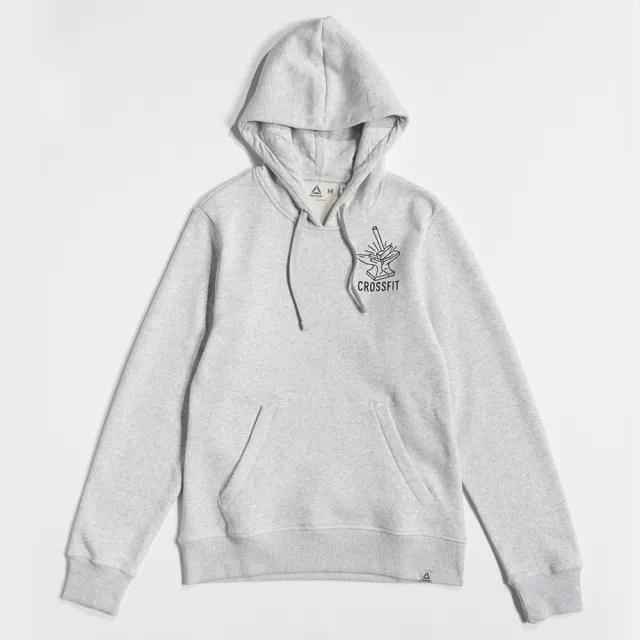 【REEBOK】CF IWC ANVIL PULLOVER 男款 長袖保暖刷毛棉質帽T 淺灰(DH3700)