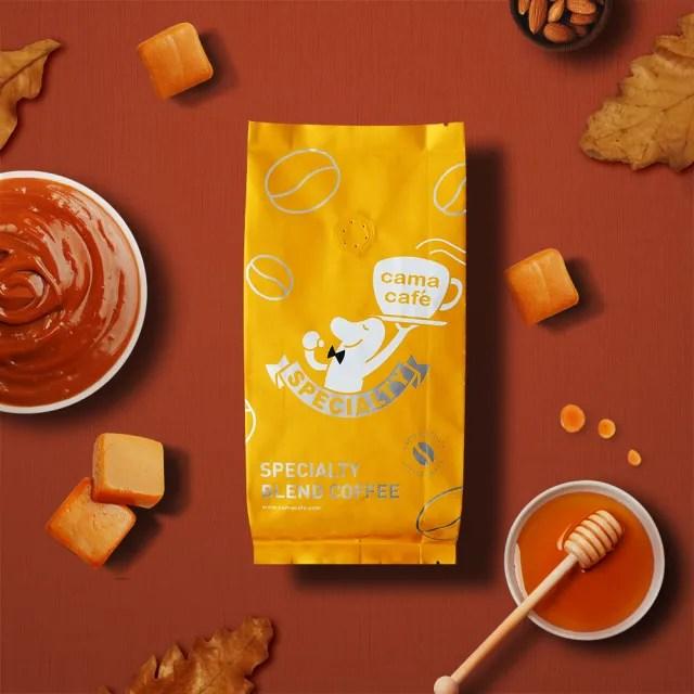 【cama cafe】鎖香煎焙系列咖啡豆-深焙醇厚焦糖(250g/1包)