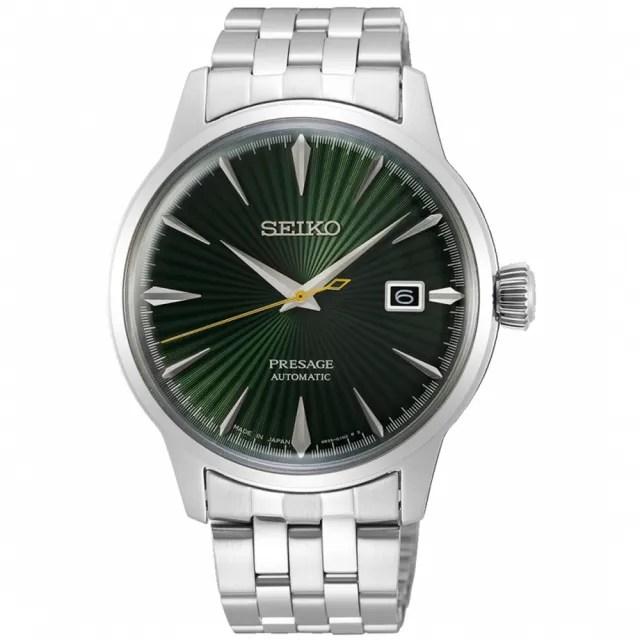 【SEIKO 精工】Presage 調酒師國王谷經典機械錶-綠/40.5mm(SRPE15J1/4R35-01T0L)