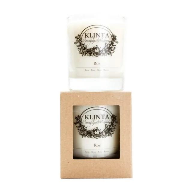 【Klinta】香氛按摩蠟燭 45小時 - 玫瑰 386g(大豆蠟燭)
