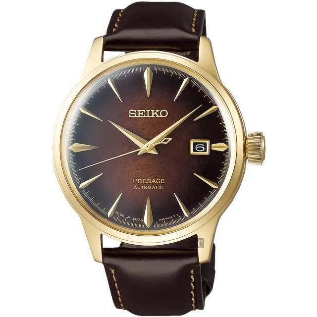 【SEIKO 精工】Presage 調酒師限量機械錶-40.5mm(4R35-03M0B  SRPD36J1)
