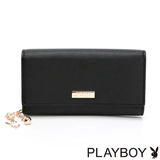 【PLAYBOY】壓扣長夾 情人絮語系列(黑色)