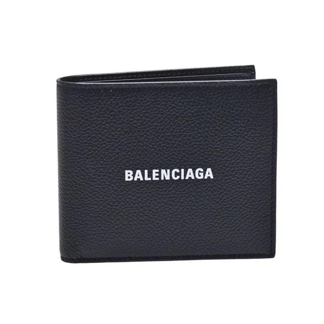 【Balenciaga 巴黎世家】經典品牌字母LOGO摺疊短夾(黑594549-1IZ13-1090)