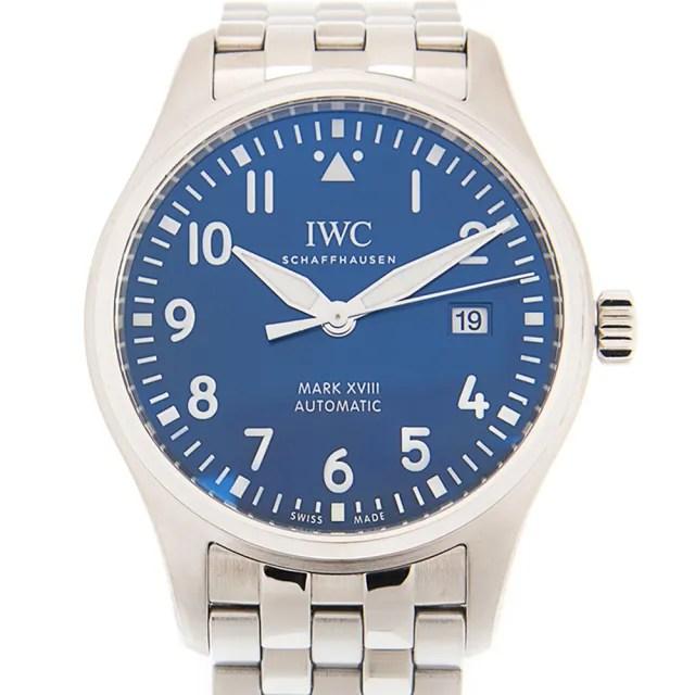 【IWC 萬國錶】馬克十八飛行員鍊帶小王子特別版腕錶x藍x40mm(IW327016)