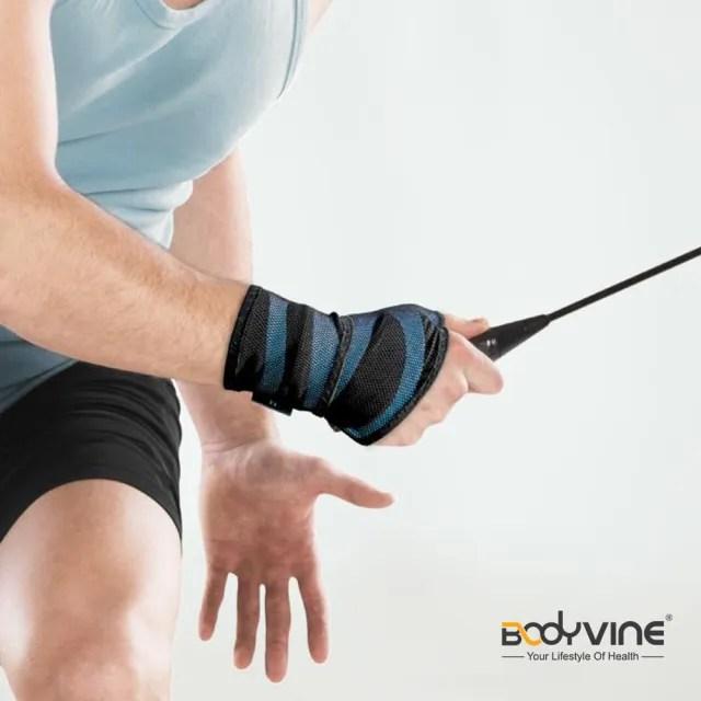 【BodyVine 巴迪蔓】超肌感貼紮護腕 強效加壓 1入 運動防護用品 手腕防護(CT8110)
